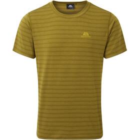 Mountain Equipment Groundup Camiseta Hombre, fir green stripe